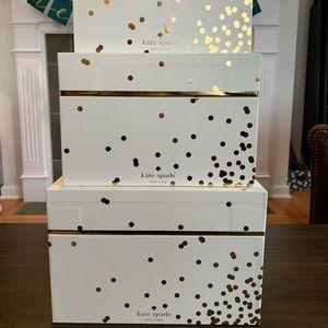 NWT Kate Spade Nesting Storage Boxes Set